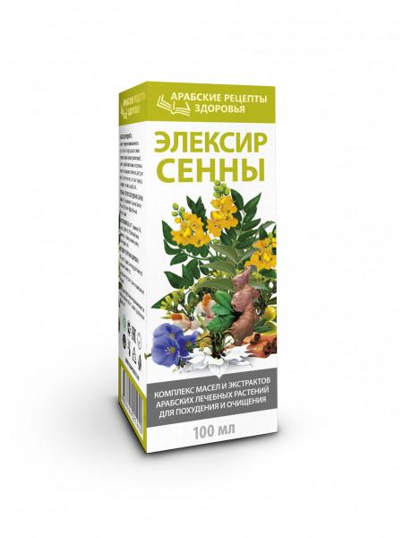 АРАБСКИЕ РЕЦЕПТЫ ЗДОРОВЬЯ ЭЛЕКСИР СЕННЫ Комплекс масел и экстрактов арабских лечебных растений для похудения и очищения